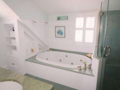 Relax in in jacuzzi tub -14 Hallett Lane Chatham Cape Cod New England Vacation Rentals
