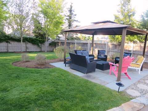 New outdoor furniture has been added to pool area. The yard is fully fenced in - 14 Hallett Lane Chatham Cape Cod New England Vacation Rentals
