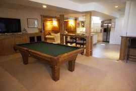 Pool table and access to outdoors where you will find the heated pool and patio - 14 Hallett Lane Chatham Cape Cod New England Vacation Rentals