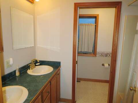 Full bath on the 1st floor - 17 Uncle Venies South Harwich Cape Cod New England Vacation Rentals