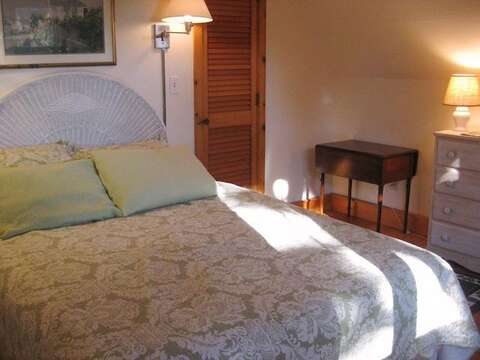 2nd Floor Bedroom 1 with Queen - 28 Sears Point Road Chatham Cape Cod New England Vacation Rentals