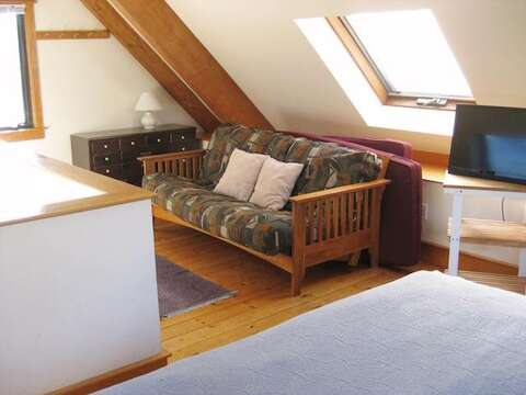 Large Queen Futon and TV in Peak bedroom - 28 Sears Point Road Chatham Cape Cod New England Vacation Rentals