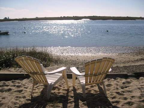 Put your toes in the sand and a cold drink in your hand and relax...Beach area accessaible just 300 yards from the house - 28 Sears Point Road Chatham Cape Cod New England Vacation Rentals