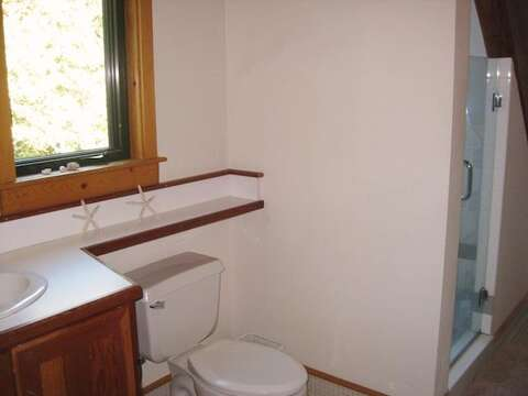 Bathroom 2 on 2nd floor with Shower off hall - 28 Sears Point Road Chatham Cape Cod New England Vacation Rentals