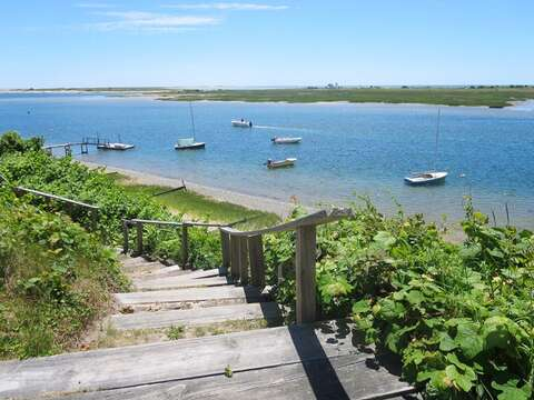 Shared Deeded access to a stairway just 300 yards from the house to enjoy the waterfront! - 28 Sears Point Road Chatham Cape Cod New England Vacation Rentals