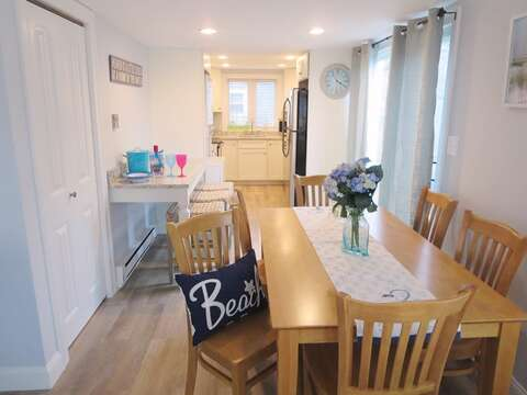 Dining area looking toward snack bar and kitchen - 15 Oyster Drive Chatham Cape Cod New England Vacation Rentals