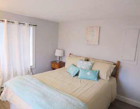 Bedroom #1 offers a Queen bed on the 1st floor - 15 Oyster Drive Chatham Cape Cod New England Vacation Rentals