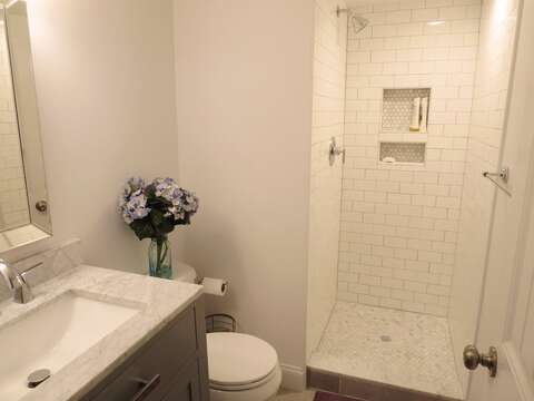 Bathroom #1 on the 1st floor - 15 Oyster Drive Chatham Cape Cod New England Vacation Rentals