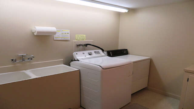 Washer/Dryer room - sinks and folding table- Waterfront North Chatham Cape Cod New England Vacation Rentals