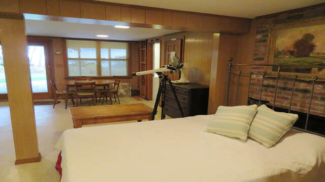 Bonus sleeping area-Lower level partially finished basement has Queen bed- game table and flat screen TV along with a full bath- Waterfront North Chatham Cape Cod New England Vacation Rentals