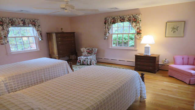 Bedroom 2 with twins - Waterfront North Chatham Cape Cod New England Vacation Rentals