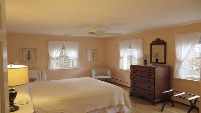Bedroom 3 with Queen- Bath off hall - Waterfront North Chatham Cape Cod New England Vacation Rentals