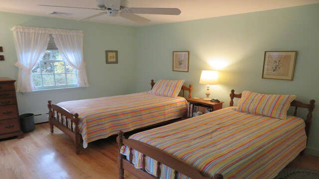 Bedroom 4 with Twins- bath off hall - Waterfront North Chatham Cape Cod New England Vacation Rentals