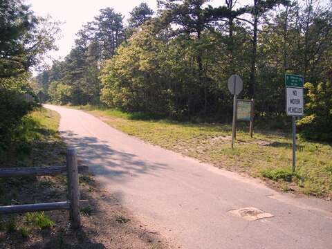 Entrance onto the bike path on Depot - Just 1.3 Mile away. - South Harwich Cape Cod New England Vacation Rentals