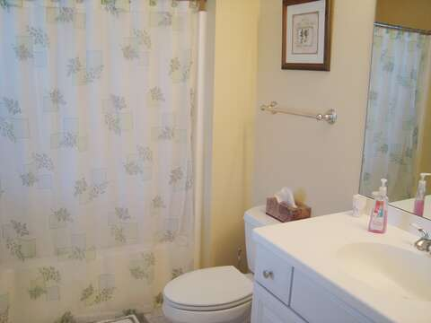 En suite Full Bath Tub and shower - 118 Deep Hole Road South Harwich Cape Cod New England Vacation Rentals
