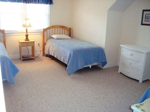 2nd Floor Bedroom #2 with 3 Twin Beds - 118 Deep Hole Road South Harwich Cape Cod New England Vacation Rentals