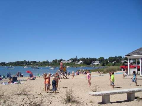 Oyster Pond Beach. Go out the back gate, cross the parking lot, and you are at the beach! - Chatham Cape Cod New England Vacation Rentals