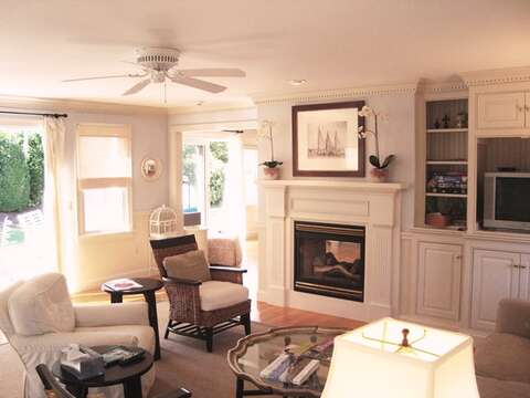 Lots of comfortable seating-325 Bridge Street Chatham Cape Cod New England Vacation Rentals