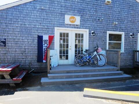 Bike shop conveniently located behind Jo Mamas downtown - less then a mile from the house - Rent a bike for the day or the week! Chatham-Cape Cod New England Vacation Rentals