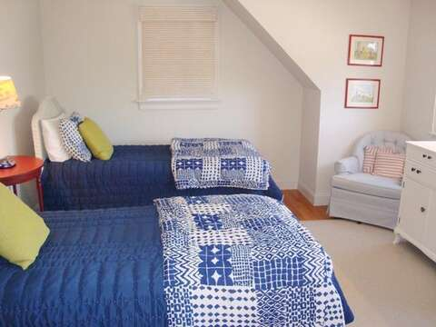 Upstairs Bedroom #3 with 2 Twin Beds - 325 Bridge Street Chatham Cape Cod New England Vacation Rentals