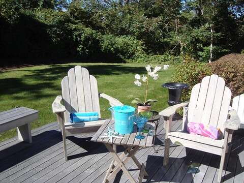 Back Deck -Sit back and relax- 325 Bridge Street Chatham Cape Cod New England Vacation Rentals