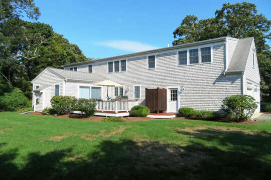 Back exterior: 118 Deep Hole Road South Harwich Cape Cod New England Vacation Rentals