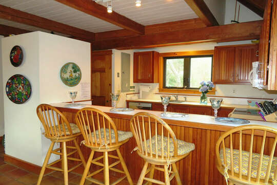 Plenty of seating to enjoy a quick meal or a large family gathering! 28 Sears Point Road Chatham Cape Cod New England Vacation Rentals