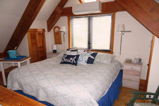 Peak Bedroom 4 with King Bed - 28 Sears Point Road Chatham Cape Cod New England Vacation Rentals