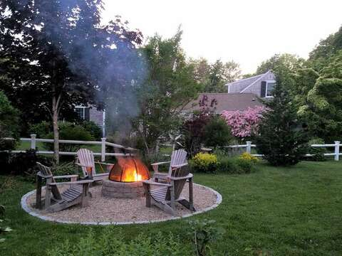 Fire Pit- 13 Lincoln Village Harwich Port Cape Cod New England Vacation Rentals