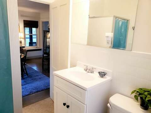 Bathroom with a shower on the 1st floor - 38 Pleasant Street Harwich Port Cape Cod New England Vacation Rentals
