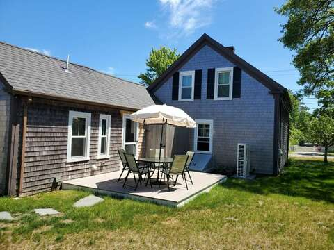 New Deck- table chairs and grill! - 38 Pleasant Street Harwich Port Cape Cod New England Vacation Rentals