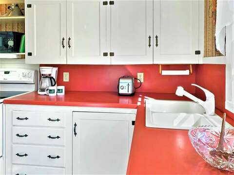 Kitchen with updated appliances - 13 Lincoln Village Harwich Port Cape Cod New England Vacation Rentals