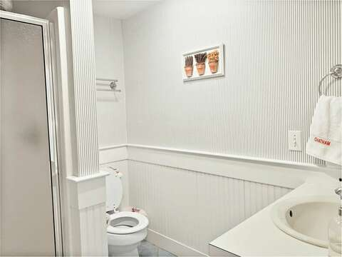 Bathroom #2 with Shower - 58 Longs Lane Chatham Cape Cod New England Vacation Rentals