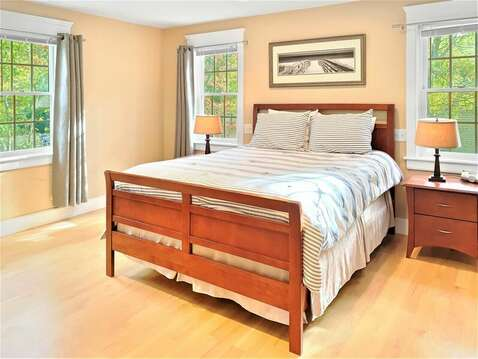 2nd floor bedroom with a Queen bed- 22 Charlene Lane Harwich Cape Cod New England Vacation Rentals