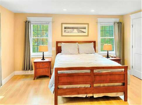 2nd floor bedroom with a Queen bed, TV, - 22 Charlene Lane Harwich Cape Cod New England Vacation Rentals