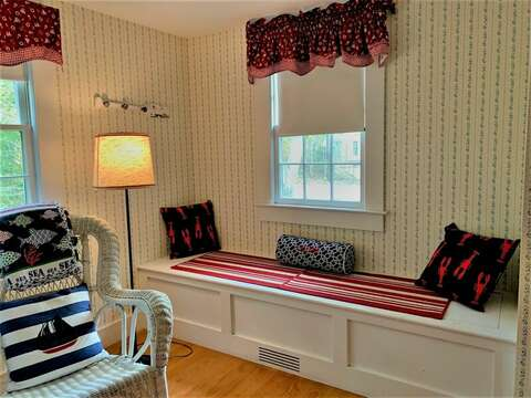 built in bench in the bunk room-58 Longs Lane Chatham Cape Cod New England Vacation Rentals