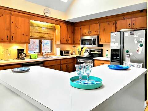 Open Kitchen - fully equipped - 122 Tracy Lane Brewster Cape Cod New England Vacation Rentals