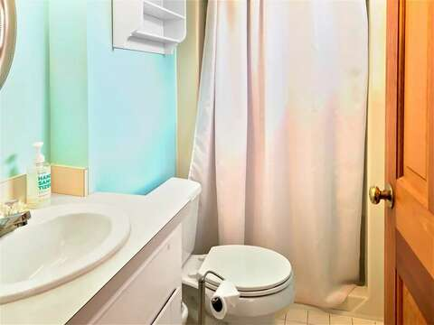 Master bathroom with shower - 122 Tracy Lane Brewster Cape Cod New England Vacation Rentals