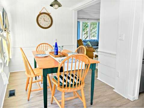 Eat-in kitchen - 17 Ocean Avenue Harwich Port Cape Cod New England Vacation Rentals