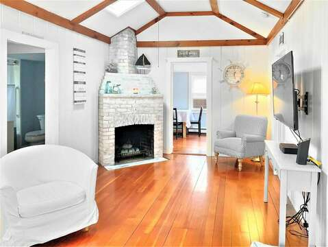 Open Living Area with Cathedral Ceilings -  130 Belmont Road West Harwich- Cape Cod - New England Vacation Rentals