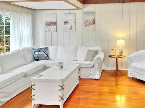 Cozy sectional in living room- 130 Belmont Road West Harwich- Cape Cod - New England Vacation Rentals