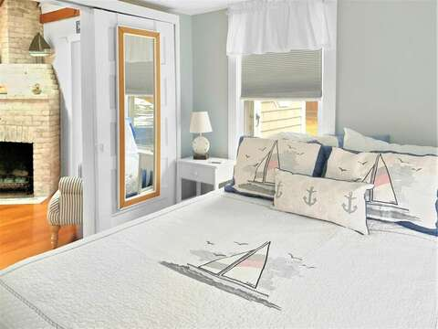 Bedroom #1 with Queen bed -  130 Belmont Road West Harwich- Cape Cod - New England Vacation Rentals