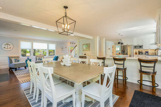 Dining room to kitchen-93 Bucks Creek Road Chatham Cape Cod New England Vacation Rentals