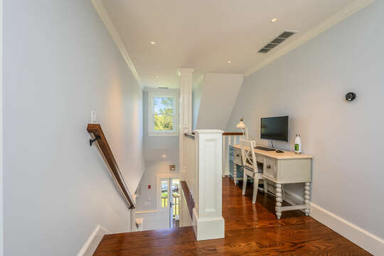 Remote work or learn from the office nook at 93 Bucks Creek Road Chatham Cape Cod New England Vacation Rentals
