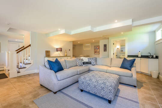 Finished lower level-93 Bucks Creek Road Chatham Cape Cod New England Vacation Rentals