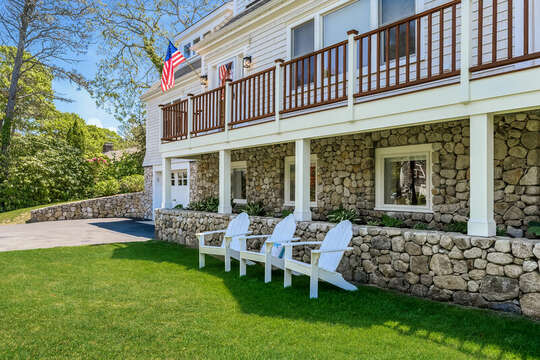 Relax in a Adirondack chair at 93 Bucks Creek Road Chatham Cape Cod New England Vacation Rentals