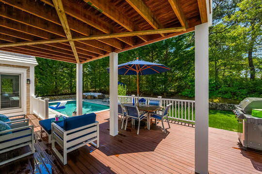 Outdoor entertaining at its best-93 Bucks Creek Road Chatham Cape Cod New England Vacation Rentals