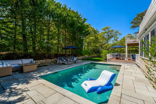 Welcome to Coastal Charm!   Relax in the pool at-93 Bucks Creek Road Chatham Cape Cod New England Vacation Rentals
