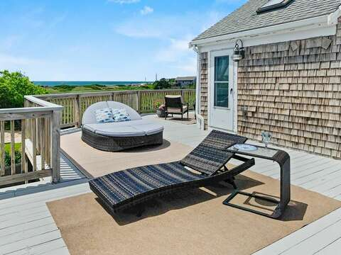 Deck with expansive ocean views at 19 Bob White Lane South Harwich Cape Cod New England Vacation Rentals