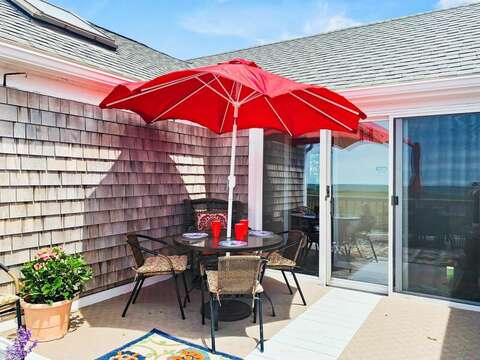 Cozy breakfast on the deck anyone?- 19 Bob White Lane South Harwich Cape Cod New England Vacation Rentals